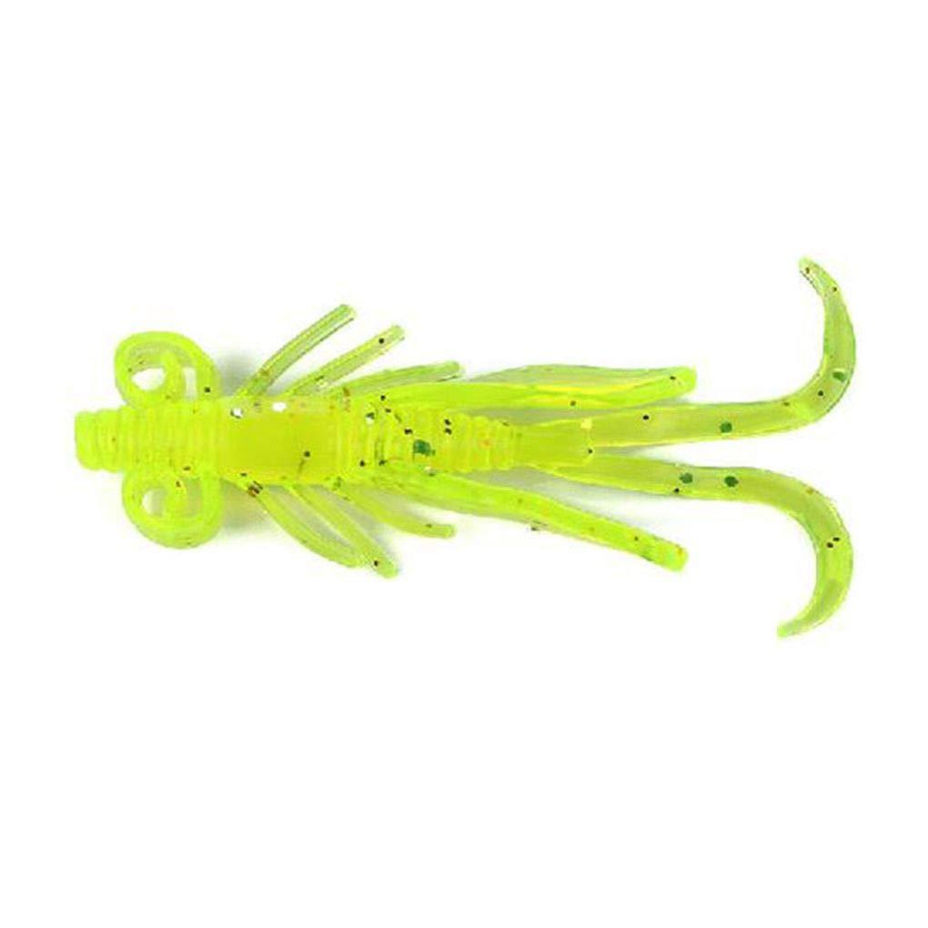 F-blue 10pcs Sac en Plastique Souple crevettes Leurre app/âts artificiels Swimbaits Poisson Simulation River Lake