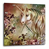 Cheap 3dRose Dream Essence Designs A Magical Unicorn Peers Out From a Floral Enchante Wall Clock, 10 By 10-Inch