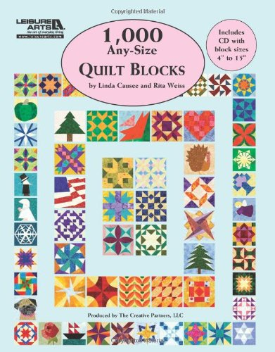 1,000 Any-Size Quilt Blocks (Leisure Arts #5593) (Arts Dvd Leisure)