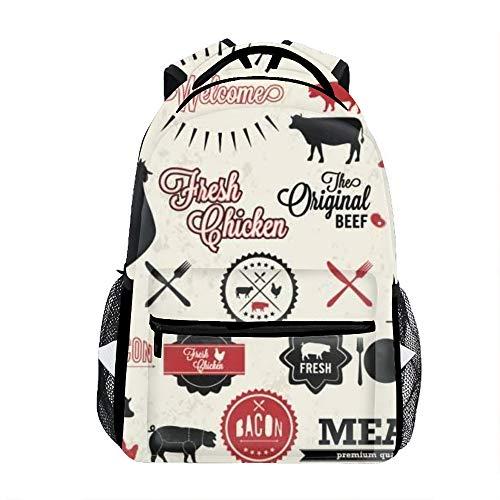 - Lightweight Restaurant Menu And Animals Labels Backpacks Girls School Bags Kids Bookbags