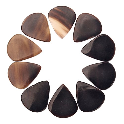 MonkeyJack 10PCS Handcrafted Horn Guitar Picks for Guitar Bass Mandolin Banjo 0.8-1.2mm