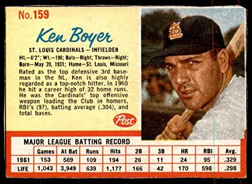1962 Post Cereal #159 Ken Boyer Very Good Cardinals ()