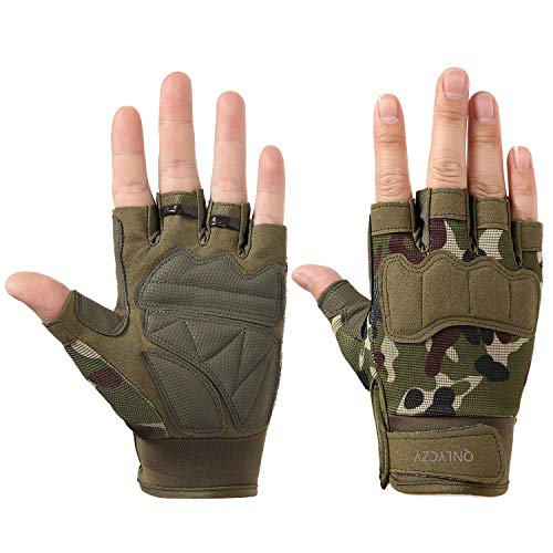 (QNLYCZY Tactical Gloves Military Army Police SWAT Combat Assault Tactical Fighting Gloves, Fitness Gloves, Outdoor Gloves, Cycling Gloves Motorcycle Bicycle, Shock Absorption, Non-Slip (M, L, XL))
