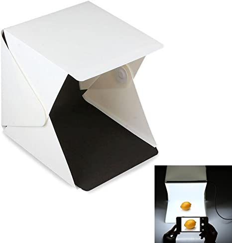 Caja de luz fotográfica, fotografía iluminación con LED Light Room Light Box Kit, Mini Foldable Photo Studio, Dos blackgrounds (blanco y negro): Amazon.es: Electrónica