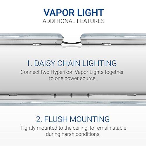 Hyperikon LED Vapor Proof Fixture 70W (150W Eq),7200Lm, 5000K (Crystal White Glow), UL & DLC 4.2, Clear Cover, Waterproof,IP65, 120-277v, Garage Lighting, Car Wash, Warehouse, Walk in Freezer, 1-Pack by Hyperikon (Image #7)