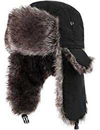 Trapper Warm Russian Trooper Fur Earflap Winter Skiing Hat Cap Women Men Windproof