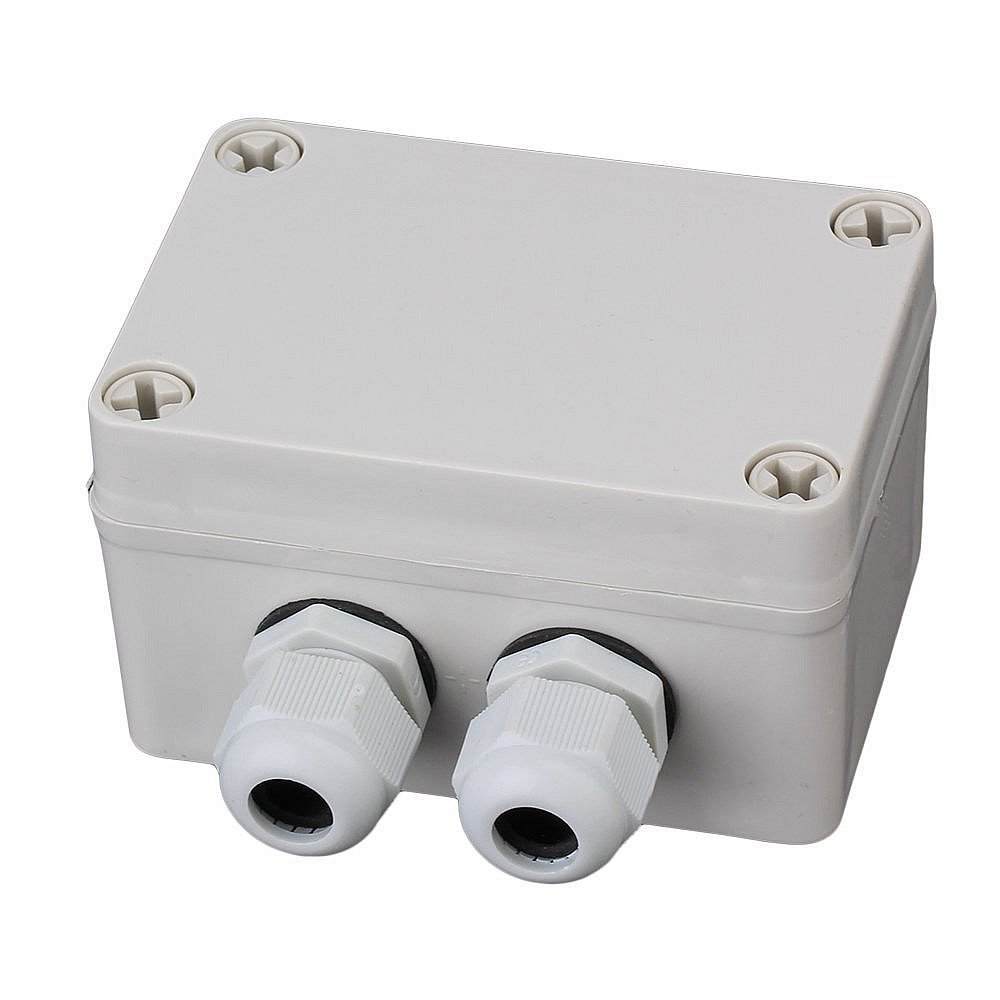 SamIdea TM 83x81x56mm 1In 2Out Waterproof Electric Junction Project Box With 6 Position 15A Barrier Terminals PG9 Cable Glands White Gray