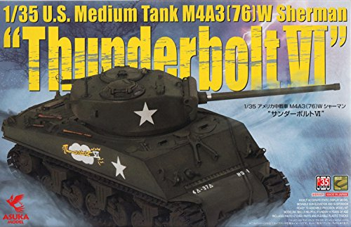 (ASU35036 1:35 Asuka US Medium Tank M4A3(76)W Sherman