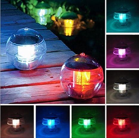 Accionada solar a prueba de agua LED que flota la lámpara colorida Mostrar Light Path Bola