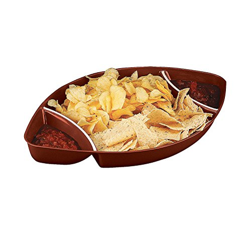 Fun Express - Plastic Football Tray for Party - Party Supplies - Serveware & Barware - Serving Platters - Party - 1 -