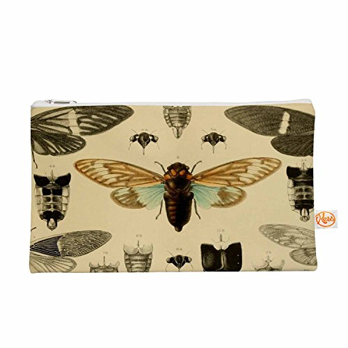 "KESS InHouse Suzanne Carter ""Vintage Cicada"" Bugs Pattern..."