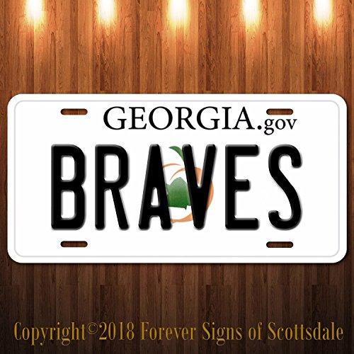 (Forever Signs Of Scottsdale Atlanta Braves MLB Baseball Georgia State Aluminum Vanity License)