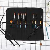 22 Pockets Waxed Canvas Roll-up Pencil Bag, Heavy