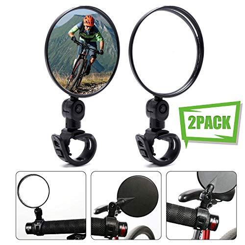 MHOYI Fietsspiegels Verstelbare Stuurspiegel Fietsspiegel Achteruitkijkspiegel Stuurspiegel Voor fiets Motorfiets E-bike…