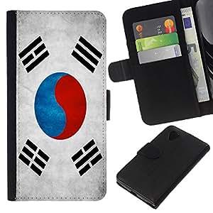 """Be-Star la tarjeta de Cr¨¦dito Slots PU Funda de cuero Monedero caso cubierta de piel Para LG Nexus 5 D820 D821 ( Bandera nacional de la Serie-Corea del Sur"""" )"""
