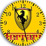 Ferrari Frameless Borderless Wall Clock W435 Nice For Gift or Room Wall Decor