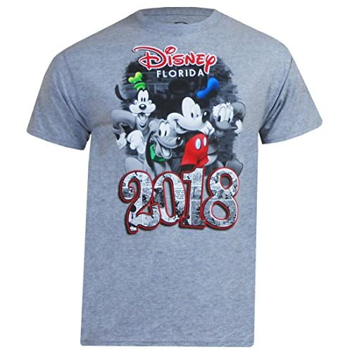 Cheap Disney Adult Unisex 2018 Mickey Mouse Fun With Four T-Shirt free shipping