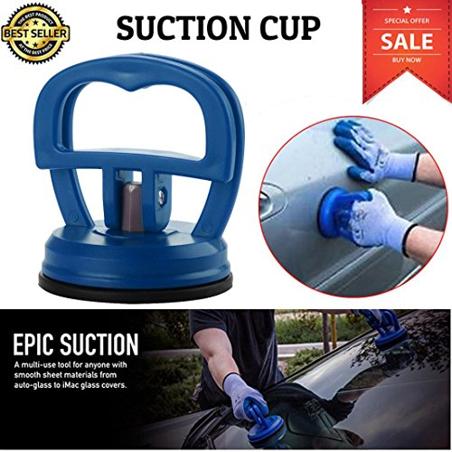 SUJING Suction Cup Dent Puller Handle Lifter Mini Car Dent Repair Puller Suction Cup Car Body Paintless Dent Repair Tools Bodywork Panel Sucker Remover Tool (Blue)