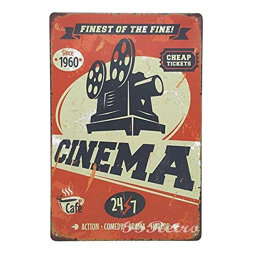 66Retro Finest of The Fine! Cinema, Vintage Retro Metal Tin Sign, Wall Decorative Sign, 20cm x 30cm (Guardian Side Box Boards)