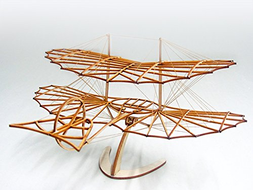 - 3D Wooden Assembly Puzzle DIY Model Plane Otto Lilienthal Glider, Laser Cut Balsa Wood Airplane Model Kit to Build for Adults, Woodcraft Construction Aircraft for Home Decor Hobby Project