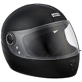 Studds Shell Chrome Elite Full Face Helmet (SUS_CEFFH_BLK, Black, XS)