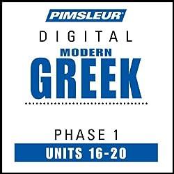 Greek (Modern) Phase 1, Unit 16-20