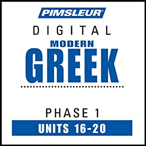 Greek (Modern) Phase 1, Unit 16-20 Audiobook