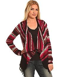 Women's and Stripe Cozy Cardigan - Sm2jc364