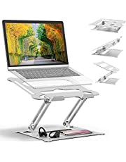 Adjustable Laptop Stand Oli & Ode Table Stand Portable Ergonomic Notebook Stand with Heat-Vent, Heavy Duty Laptop Holder Compatible with MacBook Pro/Air, Dell, HP, All other laptop and Computer