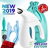 KULLIS [NEW 2019] - Steamer for Clothes, Portable Clothes Steamer, Handheld Clothing Steamer. 8-in-1 Hand Travel Fabric Steamer, Home Wrinkle Remover, Garment Steamer Iron Powerful Steamer. 6oz