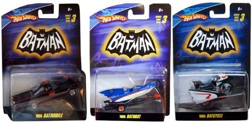 Juguete Hot Wheels Batman Batmobile 1966 Batboat Batcycle Serie
