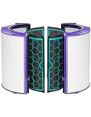 Luftrenare Dyson DP04 ren cool skrivbordsfläktfilter Dyson TP04 HP04 HEPA-filter och inre aktiverat kolfilter - förseglat tvåstegs 360° filtersystem, vit/svart
