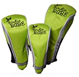 Birdie Babe Golf Club Head Covers Headcovers Set of 3 Lime Green, Outdoor Stuffs