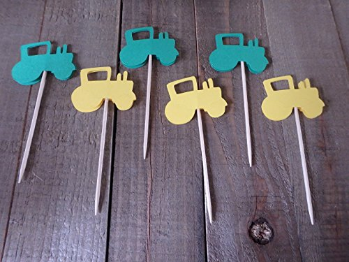 Tractor Cupcake Toppers 12 -