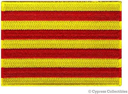 Cataluña bandera bordado de hierro en parche emblema Catalu? Una ...