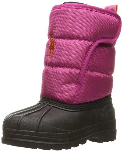 Polo Ralph Lauren Kids Girls' 993535 Snow Boot, Active Pink, 9 M US Toddler