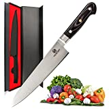 Professional Chef's Knife - Razor Sharp and Rust-Free, Carbon Steel 8-Inch Kitchen Knife for Home and Restaurant
