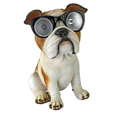 Design Toscano Bright Eyes Solar Pug Dog Garden Statue : Garden & Outdoor