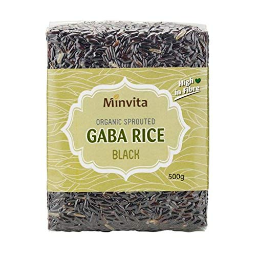Minvita Organic Sprouted Black GABA Rice - 500g - Gaba Brown Sprouted Rice