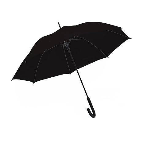 "7ff036017 Amazon.com: eBuyGB 40"" Colourful Luxury Automatic Windproof Stick Umbrella  – Strong Durable Classic Black Rubber Crook Handle Walking Rain: Sports &  ..."