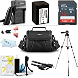 32GB Accessory Kit For Sony HDR-PJ230/B, FDR-AX100, HDR-CX900, FDRAX33/B, FDR-AX53, FDRAX53/B HD Camcorder Includes 32GB High Speed SD Memory Card + Replacement NP-FV70 Battery + Charger + Case + Tripod + More