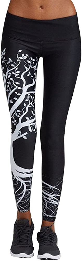 Letter Yoga Pants, Women's Fashion Workout Leggings Fitness Sports Gym Running Yoga Athletic Pants by Neartime