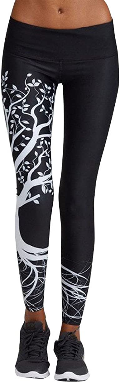 PantsClearance,Women Printed Sports Yoga Workout Gym Fitness Exercise Athletic Pants Black//S