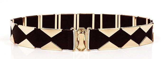 688ad25c005f Longwu La mode des femmes en métal or ceinture ceinture élastique  extensible ceinture ceinture pour robe