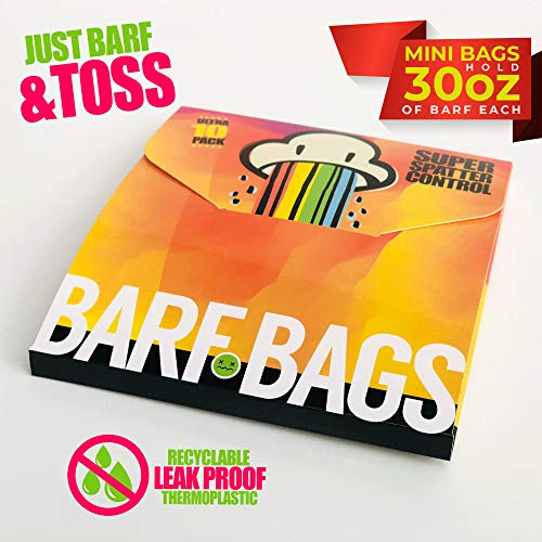 30oz Travel Barf Bags. Compact Disposable Travel Bags for Uber, Lyft & Emergency Kids Vomiting. Sealable Throw Away Convenience Pack of 10 Leak Proof Road Trip Bags.