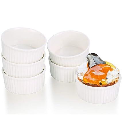 G.a HOMEFAVOR Cuencos Ragout de 7 cm, Moldes para Soufflé Cazuela y Crème Brûlée,