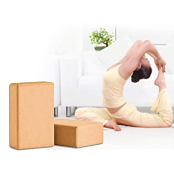 RXRENXIA Juego De 2 Bloques De Yoga De Corcho, 9