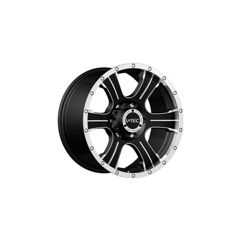 VISION WHEEL   396 assassin   17 Inch Rim x 8.5   (6x5.5) Offset (25) Wheel Finish   matte black machined face