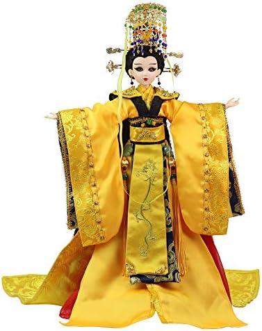 Ur Bt Option Sammlerpuppen, 1/6 BJD Puppen, 30 cm groß, 14 Kugelgelenke Wu ZeTian, Orientalisches Dekor, Chinesische Figur für Wohnkultur,Emperor in Coronation