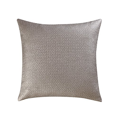 Vince Camuto Coated Decorative Pillow Metallic Square Pillow, 20